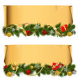 Christmas Scroll Set 1 vector image vector image