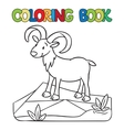 Coloring book of little funny urial or ram vector image vector image
