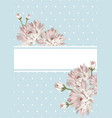 cover or card template shabby chic flowers on vector image