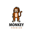 cute monkey cartoon logo icon vector image vector image