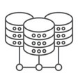 data center thin line icon data and analytics vector image vector image