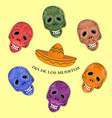 dia de los muertos day of the dead sugar skulls vector image vector image