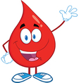 Drop of blood cartoon character