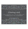 elegant greeting vintage cards vector image