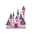 fairytale fantasy pink castle vector image vector image