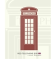 figure a red telephone boot vector image