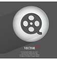 film Flat modern web button with long shadow and vector image vector image