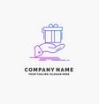 gift surprise solution idea birthday purple vector image