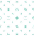 global icons pattern seamless white background vector image vector image