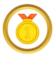 Gold medal for first place icon vector image vector image
