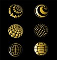 Golden of Earth Set vector image vector image