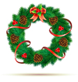 green wreath vector image vector image