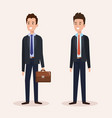 group businessmen avatars characters vector image