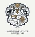 handmade vintage font wild buck vector image vector image