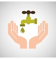 hands care environment tap water vector image vector image