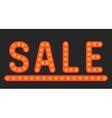 Inscription sale of lamps vector image