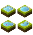 Isometric swimming pool different shapes vector image