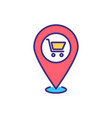 local shopping rgb color icon vector image
