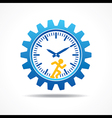 Man running with time concept vector image vector image