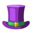 mardi gras carnival top hat vector image vector image