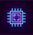microchip neon label vector image vector image