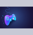 neon game controller for controlling pc vector image vector image
