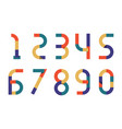 numbers retro color paper vector image vector image