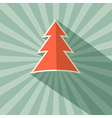 Paper Tree Retro on Green Background vector image vector image