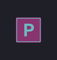 Parking computer symbol vector image