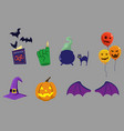 party stuff for halloween vector image vector image