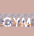 people training in gym vector image