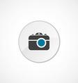 photo camera icon 2 colored vector image vector image