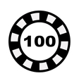 poker chips isolated icon design vector image