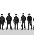 police line seamless border row policemen vector image
