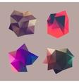 Polygonal decorational element vector image vector image