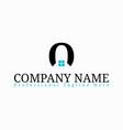 real estate initial letter o logo design template vector image vector image