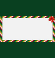 rectangle banner with colored striped pattern and vector image vector image