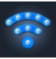 Retro wifi icon on black background vector image