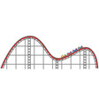 roller coaster track on white background vector image vector image