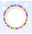 Round abstract background with Christmas lights vector image vector image