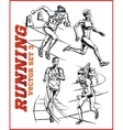 running people collection vector image