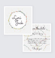 Save the date wedding invitation card with wreath vector image vector image