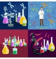 Scientists lab concept with man making research vector image vector image