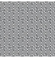 seamless abstract geometric pattern black and vector image vector image