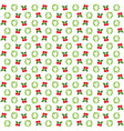 seamless christmas wreath and ornament pattern vector image