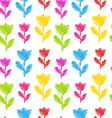 seamless flower texture natural pattern vector image vector image