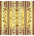 Seamless golden brown striped pattern vector image vector image