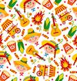 Seamless pattern of festa Junina village festival vector image
