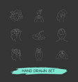 set of psychology icons line style symbols with vector image