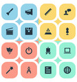 set of simple designicons vector image